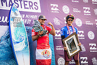BANZAI PIPELINE, North Shore Oahu/Hawaii (Monday, December 19, 2016) Michel Bourez (PYF)  and Kanoa Igarashi (USA) - The Final day of the Billabong Pipe Masters in Memory of Andy Irons, the final stop on the 2016 Samsung Galaxy World Surf League (WSL) Championship Tour (CT), was called ON this morning in four-to-six foot (1 - 2 metre) waves at the world-renowned Banzai Pipeline. The day started at 8:00 a.m. local time with Round 3 Heat 12 then ran to completion with Michel Bourez (PYF) winning with Kanoa Igarashi (USA)  in second place.<br /> The event also concludes the Vans Triple Crown of Surfing with the new world champion John John Florence winning his third Triple Crown of Surfing.Photo: joliphotos