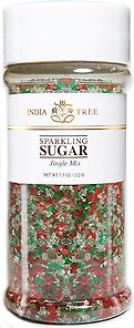 10222 Jingle Mix Sparkling Sugar, Tall Jar 7.5 oz