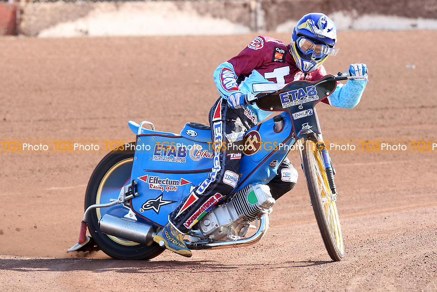 Jonas Davidsson rides for Lakeside Hammers during pre-season speedway practice at Arena Essex Raceway - 10/03/09 - MANDATORY CREDIT: Gavin Ellis/TGSPHOTO - Self billing applies where appropriate - 0845 094 6026 - contact@tgsphoto.co.uk - NO UNPAID USE.