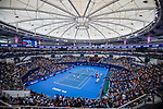 A general view of the Hengqin Tennis Center during the doubles Round Robin match of the WTA Elite Trophy Zhuhai 2017 between Chen Liang and Zhaoxuan Yang of China, and Ying-Ying Duan and Xinyun Han of China at Hengqin Tennis Center on November  04, 2017 in Zhuhai, China. Photo by Yu Chun Christopher Wong / Power Sport Images