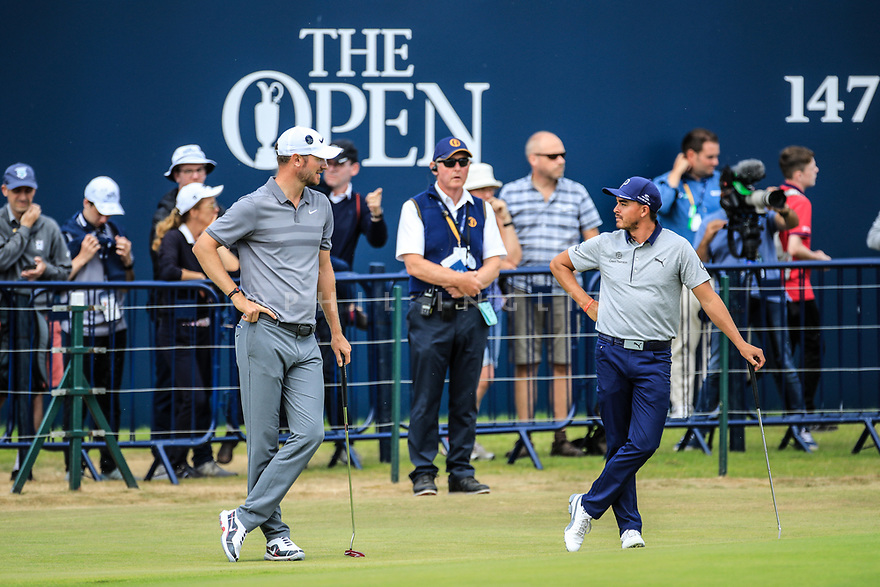 Chris Wood (ENG) during the first round of the 147th Open Championship played at Carnoustie Links, Angus, Scotland. 19/07/2018<br /> Picture: Golffile | Phil Inglis<br /> <br /> All photo usage must carry mandatory copyright credit ©Phil INGLIS)