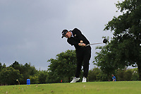Connor Ruddy (Enniscrone) on the 6th tee during the Final of the Junior Cup in the AIG Cups & Shields Connacht Finals 2019 in Westport Golf Club, Westport, Co. Mayo on Thursday 8th August 2019.<br /> <br /> Picture:  Thos Caffrey / www.golffile.ie<br /> <br /> All photos usage must carry mandatory copyright credit (© Golffile | Thos Caffrey)