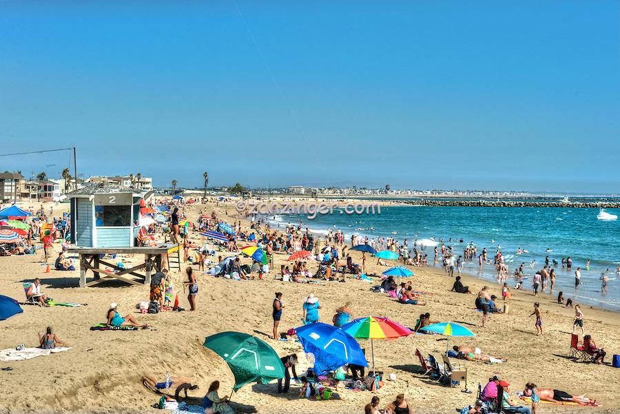 Seal Beach, CA, LA, Beach, Pier, People Swimming, Sunbathing, Hotels,