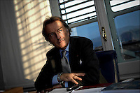 The former Chairman of Ferrari Luca Cordero di Montezemolo interviewed in his office inside the Fiat historical building at Lingotto in Turin, Italy, November 29, 2007.