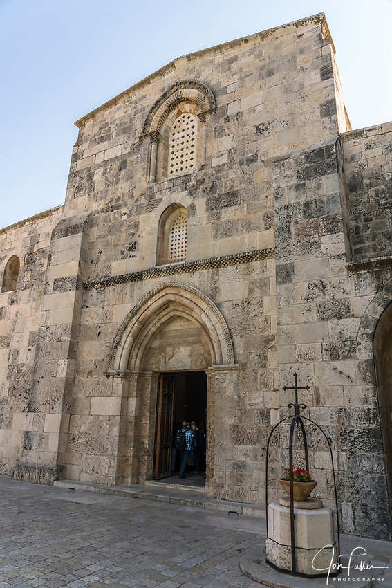 The Church of Saint Anne in the Muslim Quarter of the Old City of Jerusalem.  The Old City of Jerusalem and its Walls is a UNESCO World Heritage Site.  The Church of Saint Anne was built between 1131 and 1138 A.D.
