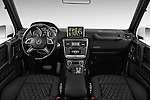 Stock photo of straight dashboard view of 2018 Mercedes Benz G-Class AMG-G63 5 Door SUV Dashboard