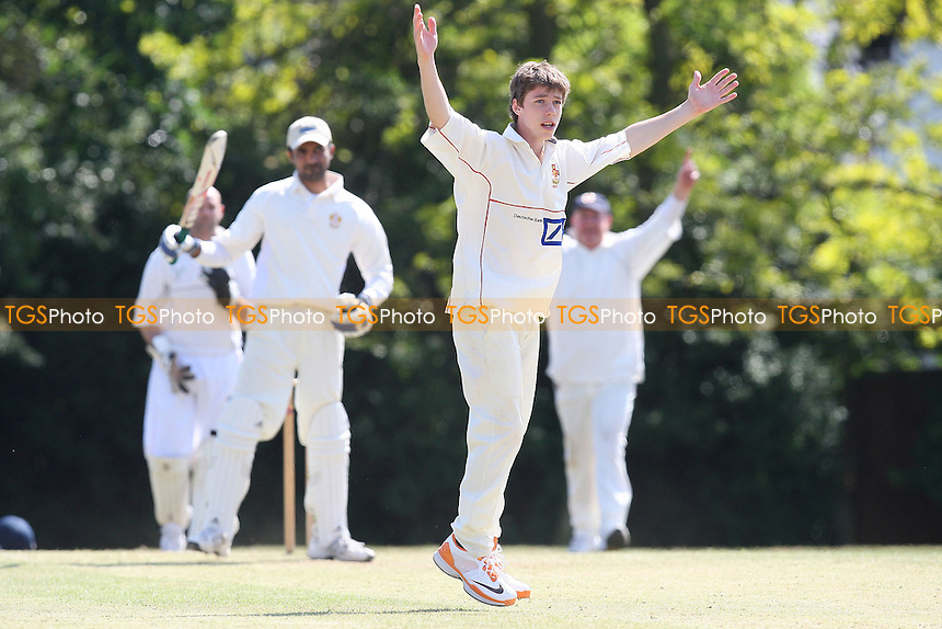 Southgate of Hutton claims the wicket of N Lopez - Havering-atte-Bower CC 3rd XI vs South Woodham Ferrers CC 3rd XI - Essex Club Cricket - 21/05/11 - MANDATORY CREDIT: Gavin Ellis/TGSPHOTO - Self billing applies where appropriate - Tel: 0845 094 6026