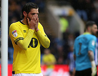 Blackburn Rovers' Danny Graham can't believe his luck as another chance goes begging<br /> <br /> Photographer David Shipman/CameraSport<br /> <br /> The EFL Sky Bet Championship - Sheffield Wednesday v Blackburn Rovers - Saturday 16th March 2019 - Hillsborough - Sheffield<br /> <br /> World Copyright &copy; 2019 CameraSport. All rights reserved. 43 Linden Ave. Countesthorpe. Leicester. England. LE8 5PG - Tel: +44 (0) 116 277 4147 - admin@camerasport.com - www.camerasport.com