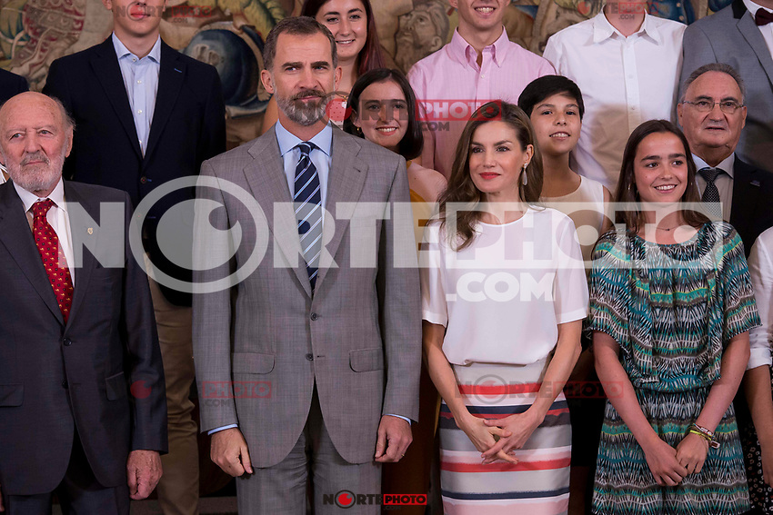 King Felipe VI of Spain and Queen Letizia of Spain attends to several audiences at Zarzuela Palace in Madrid, July 05, 2017. Spain.<br /> (ALTERPHOTOS/BorjaB.Hojas) /NortePhoto.com