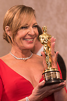 Allison Janney gets the Oscar&reg; for performance by an actress in a supporting role for work on &ldquo;I, Tonya&rdquo; engraved at the Governors Ball following the live ABC Telecast of The 90th Oscars&reg; at the Dolby&reg; Theatre in Hollywood, CA on Sunday, March 4, 2018.<br /> *Editorial Use Only*<br /> CAP/PLF/AMPAS<br /> Supplied by Capital Pictures