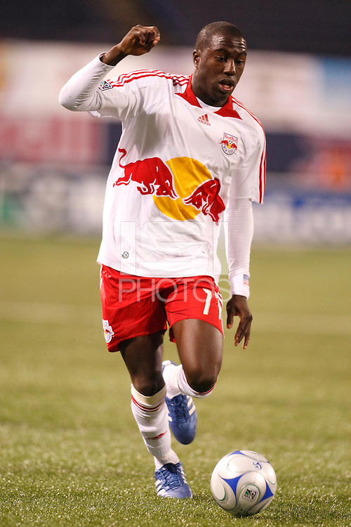 New York Red Bulls forward Jozy Altidore (17). The New York Red Bulls and the New England Revolution played to a 1-1 tie during a Major League Soccer match at Giants Stadium in East Rutherford, NJ, on April 19, 2008.