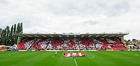 Lincoln City fans in the Lincolnshire Co-operative Stand with a pre-match display<br /> <br /> Photographer Chris Vaughan/CameraSport<br /> <br /> The EFL Sky Bet League Two - Lincoln City v Morecambe - Saturday August 12th 2017 - Sincil Bank - Lincoln<br /> <br /> World Copyright &copy; 2017 CameraSport. All rights reserved. 43 Linden Ave. Countesthorpe. Leicester. England. LE8 5PG - Tel: +44 (0) 116 277 4147 - admin@camerasport.com - www.camerasport.com