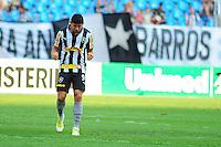 ATENÇÃO EDITOR: FOTO EMBARGADA PARA VEÍCULOS INTERNACIONAIS. - RIO DE JANEIRO, RJ, 09 DE SETEMBRO DE 2012 - CAMPEONATO BRASILEIRO - BOTAFOGO X NAUTICO - Elkeson, jogador do Botafogo, comemora o seu segundo gol, durante partida contra o Nautico, pela 23a rodada do Campeonato Brasileiro, no Stadium Rio (Engenhao), na cidade do Rio de Janeiro, neste domingo, 09. FOTO BRUNO TURANO BRAZIL PHOTO PRESS