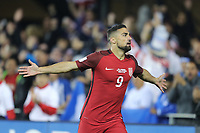 San Jose, CA - March 24, 2017: The U.S. Men's National team go on to defeat Honduras 6-0 during their 2018 FIFA World Cup Qualifying Hexagonal match at Avaya Stadium. Sebastian Lletget celebrates his goal.