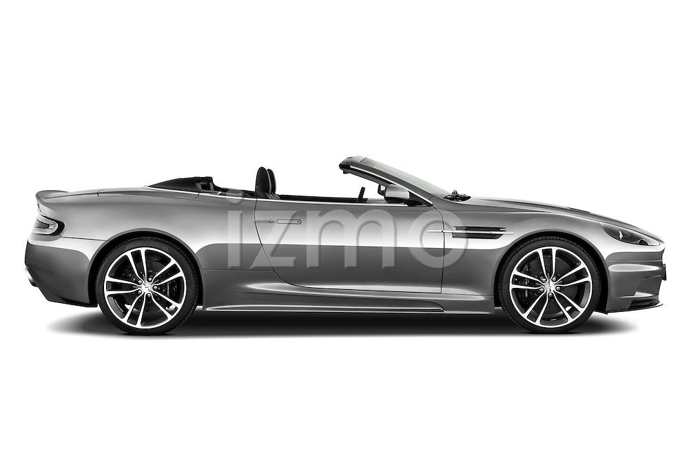 Passenger side profile view of a 2007 - 2012 Aston Martin DBS Volante Convertible.