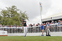 Bubba Watson (USA) watches his tee shot on 7 during day 5 of the World Golf Championships, Dell Match Play, Austin Country Club, Austin, Texas. 3/25/2018.<br /> Picture: Golffile | Ken Murray<br /> <br /> <br /> All photo usage must carry mandatory copyright credit (© Golffile | Ken Murray)