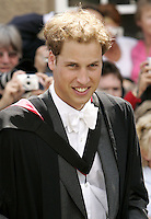 Prince William's Graduation Ceremony at the University of St Andrews in Scotland..Picture: UK Press