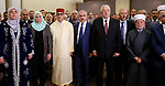 Palestinian Prime Minister Mohammad Ishtayeh attends the ceremony marking the 20th anniversary of the Moroccan King Mohammed VI accession to the throne, at the Moroccan embassy, in the West Bank city of Ramallah, July 30, 2019. Photo by Prime Minister Office