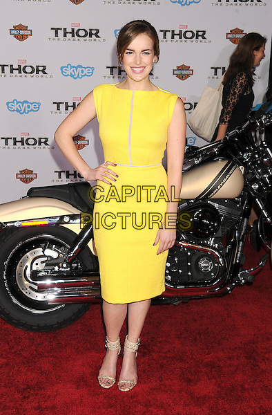HOLLYWOOD, CA - NOVEMBER 04: Elizabeth Henstridge at the Los Angeles Premiere 'Thor: The Dark World' at the El Capitan Theatre on November 4, 2013 in Hollywood, California, USA.<br /> CAP/ROT/TM<br /> &copy;Tony Michaels/Roth Stock/Capital Pictures
