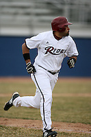 March 22nd 2009:  Left Fielder Maurice Williams (24) of the Rider University Broncs during a game at Sal Maglie Stadium in Niagara Falls, NY.  Photo by:  Mike Janes/Four Seam Images
