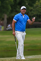 Brooks Koepka (USA) sinks his par putt on 11 during round 4 of the WGC FedEx St. Jude Invitational, TPC Southwind, Memphis, Tennessee, USA. 7/28/2019.<br /> Picture Ken Murray / Golffile.ie<br /> <br /> All photo usage must carry mandatory copyright credit (© Golffile | Ken Murray)