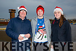 Enjoying the Santa 5km run in memory of Fiona Moore in aid of Heart Children Ireland at the Tralee Wetlands were Ben Foley, Kevin Foley and Holly O'Callaghan