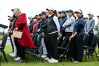 Welcome powhiri. McKayson NZ Women's Golf Open, first Practice Round, Windross Farm Golf Course, Manukau, Auckland, New Zealand, Monday 25 September 2017.  Photo: Simon Watts/www.bwmedia.co.nz