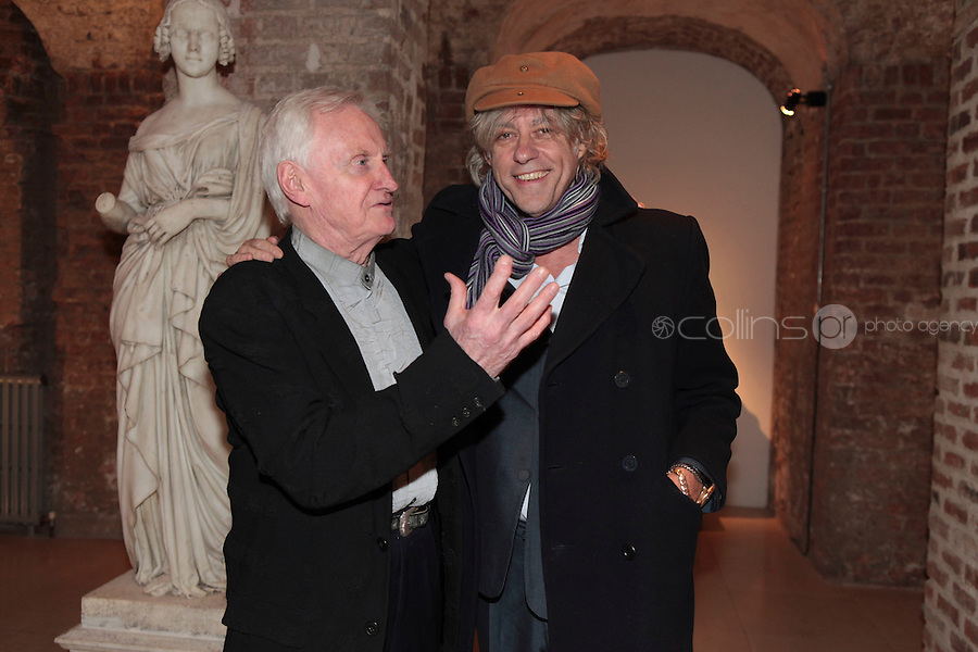 27/1/11 John Boorman with Bob Geldof at the 30th Anniversary of Excalibur, raising funds for the launch of the the Warrior Programme Ireland at the Pwerscourt House, Enniskerry, Co Wicklow. Picture: Arthur Carron/Collins