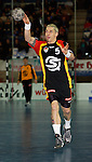 Handball Herren, Laenderspiel, UNIVERSA-CUP Hanns-Martin-Schleyerhalle Stuttgart (Germany) Nationalmannschaften, Deutschland - Tschechien Stefan Kretzschmar (GER) am Ball