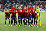 Spain's team group during the UEFA Under 21 Final at the Stadion Cracovia in Krakow. Picture date 30th June 2017. Picture credit should read: David Klein/Sportimage