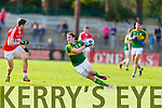 Stephen O'Brien Kerry in action against Tomas Clancy Cork in the National Football League at Pairc Ui Rinn, Cork on Sunday.