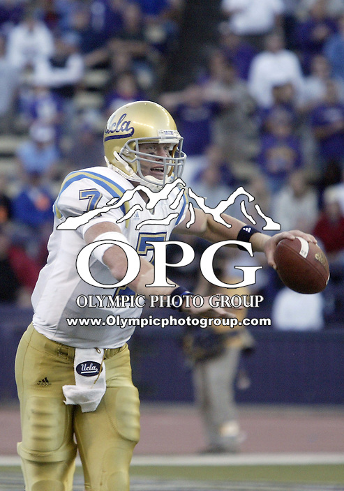 SEPT 23, 2006:  UCLA quarterback Ben Olson looks for a open receiver down field against the Washington Huskies  at Husky Stadium...The Washington Huskies won 29-19 over the UCLA Bruins at Husky stadium in Seattle, WA.