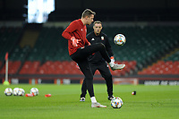 Wayne Hennessey of Wales in action during the Wales Training Session at The Principality Stadium in Cardiff, Wales, UK. Wednesday 10 October 2018