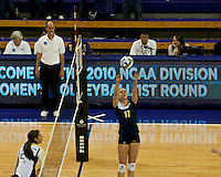 The University of Michigan Women's Volleyball team were defeated by the University of Washington in the first round of the 2010 NCAA Volleyball Championship being held at the Hec Edmundsen Pavilion, Seattle, Washington. Thursday December 2nd, 2010