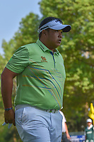 Kiradech Aphibarnrat (THA) departs the 18th green following round 4 of the World Golf Championships, Mexico, Club De Golf Chapultepec, Mexico City, Mexico. 3/4/2018.<br /> Picture: Golffile | Ken Murray<br /> <br /> <br /> All photo usage must carry mandatory copyright credit (&copy; Golffile | Ken Murray)