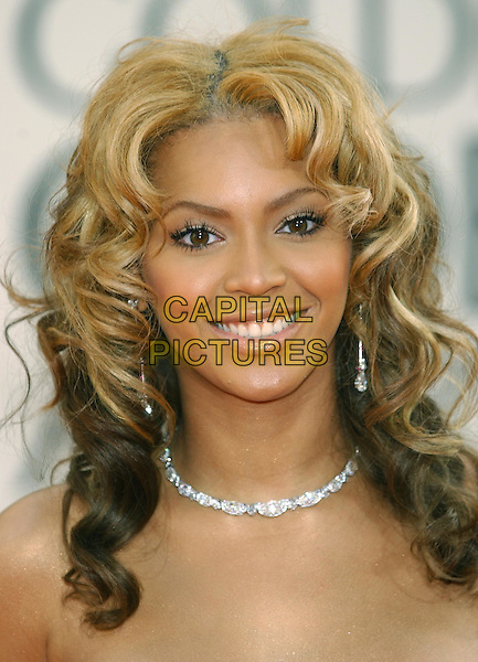 BEYONCE KNOWLES.60th Golden Globe Awards.www.capitalpictures.com.sales@capitalpictures.com.© Capital Pictures.diamonds, diamond necklace, long eyelashes, hair