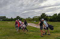 Alexandra Newell (USA), Brittany Lang (USA), and Amelia Lewis (USA) head down 12 during round 1 of  the Volunteers of America LPGA Texas Classic, at the Old American Golf Club in The Colony, Texas, USA. 5/4/2018.<br /> Picture: Golffile | Ken Murray<br /> <br /> <br /> All photo usage must carry mandatory copyright credit (&copy; Golffile | Ken Murray)
