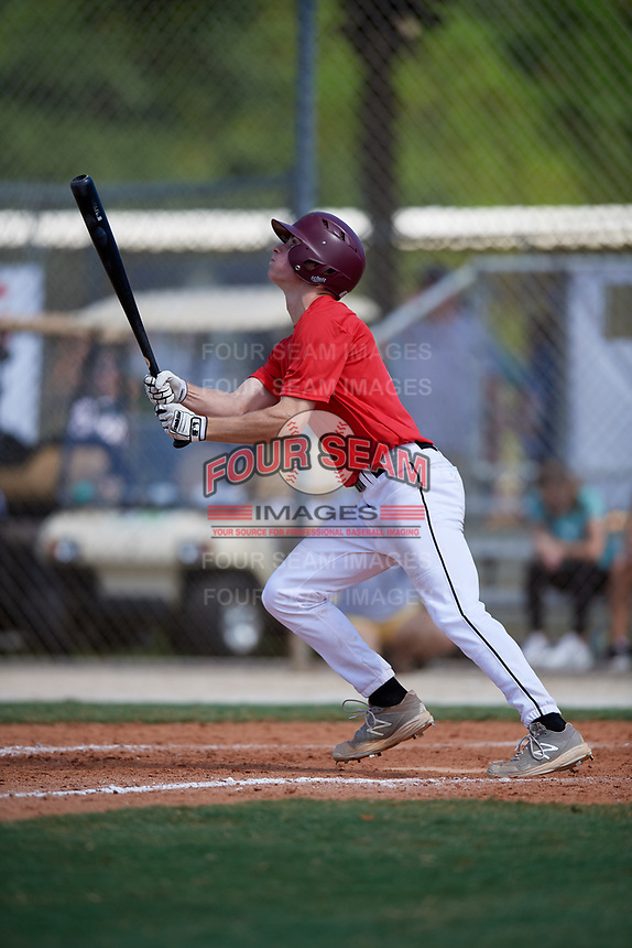 Braley Hollins during the WWBA World Championship at the Roger Dean Complex on October 19, 2018 in Jupiter, Florida.  Braley Hollins is a shortstop from Plano, Texas who attends Plano Senior High School and is committed to Oklahoma State.  (Mike Janes/Four Seam Images)