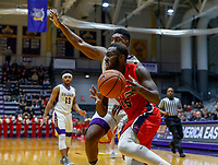 Stony Brook defeats UAlbany  69-60 in the America East Conference tournament quaterfinals at the  SEFCU Arena, Mar. 3, 2018. Akwasi Yeboah (#15).