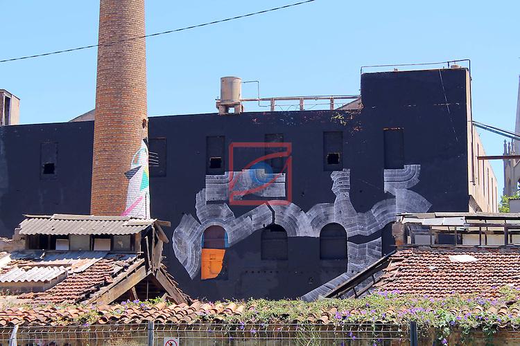 Street Art-Graffittis.<br /> Barcelona, La Escocesa, carrer Pere IV, Poblenou.