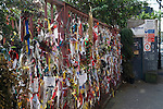 "Cross Bones Graveyard, Recross Way Southwark, London  UK ..Cross Bones is a post-medieval disused burial ground in The Borough, Southwark, south London, in what is now known as Redcross Way..It is believed to have been established originally as an unconsecrated graveyard for ""single women,"" a euphemism for prostitutes, known locally as ""Winchester Geese,"" because they were licensed by the Bishop of Winchester to work within the Liberty of the Clink. The liberty lay outside the jurisdiction of the City of London, and as a consequence it became known for its brothels and theatres, as well as bull and bear baiting, activities not permitted within the City itself.."