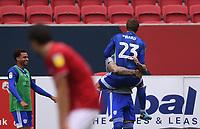 4th July 2020; Ashton Gate Stadium, Bristol, England; English Football League Championship Football, Bristol City versus Cardiff City; Danny Ward of Cardiff City celebrates scoring in 85th minute 0-1
