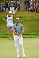 Dustin Johnson (USA) reacts to barely missing his putt on 5 during round 4 of the 2019 PGA Championship, Bethpage Black Golf Course, New York, New York,  USA. 5/19/2019.<br /> Picture: Golffile | Ken Murray<br /> <br /> <br /> All photo usage must carry mandatory copyright credit (© Golffile | Ken Murray)