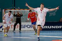 19.01.2013 World Championshio Handball. Match between Spain vs Croatia (25-27) at the stadium La Caja Magica. The picture show Domagoj Duvnjak (Line player of Croatia)