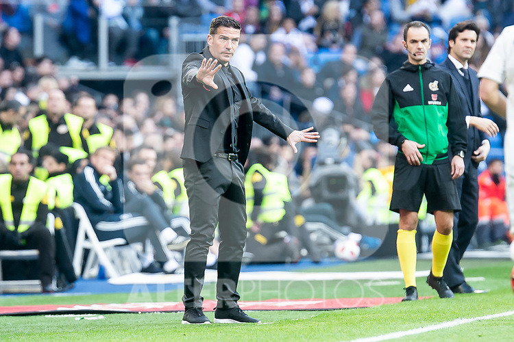 U.D. Melilla coach Luis Miguel Carrion during King's Cup match between Real Madrid and U.D. Melilla at Santiago Bernabeu Stadium in Madrid, Spain. December 06, 2018. (ALTERPHOTOS/Borja B.Hojas)