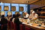 Sushi bar in Norita, Japan airport.