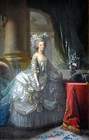 1783 painting of Marie-Antoinette<br /> <br /> Marie-Antoinette<br /> (2 November 1755 ñ 16 October 1793), born an Archduchess of Austria, was Dauphine of France from 1770 to 1774 and Queen of France and Navarre from 1774 to 1792.