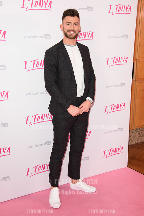 "Jake Quickenden at the ""I, Tonya"" premiere at the Curzon Mayfair, London, UK. <br /> 15 February  2018<br /> Picture: Steve Vas/Featureflash/SilverHub 0208 004 5359 sales@silverhubmedia.com"