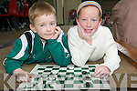 DRAUGHTS: Competing in the Community Games Draughts Competition in St. Michaels College Listowel on Sunday were Cian Liston, Listowel, and Sarah Murphy, Firies..