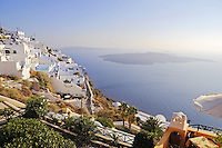 Stunning scenery of Santorini island with caldera view